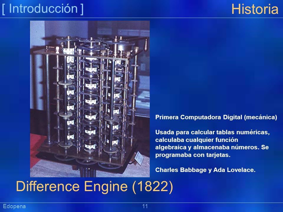 Historia Difference Engine (1822) [ Introducción ]